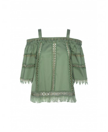 BLUSA PUNTILLAS VERTICALES HIGHLY PREPPY